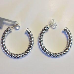 Authentic David Yurman Sliver Hoop Earrings